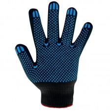 Перчатки х/б с ПВХ 4 нити, черные
